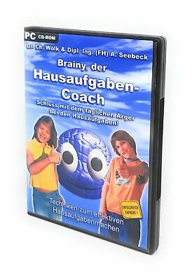 Brainy der Hausaufgaben Coach Computerprogramm Training Helfer Software CD ROM