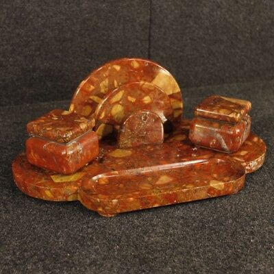 Inkwell marble object french Art Deco antique style sculpture antiques 900 XX