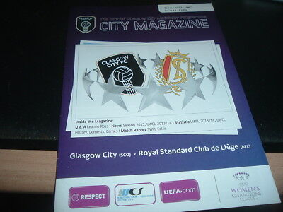 Glasgow City Ladies v Standard Liege 2013 Champions League