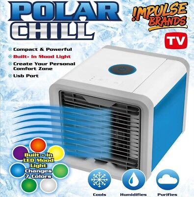 Portable Air Cooler Conditioner Cool Cooling For Bedroom Portable Mini Fan AU