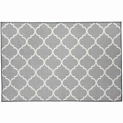 Ruggable Washable Moroccan Trellis Light Grey 3'x5' Stain Resistant Rug