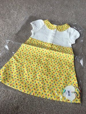 Little Bird By Jools Oliver Yellow Tulips Floral Spring Dress 12-18 Months