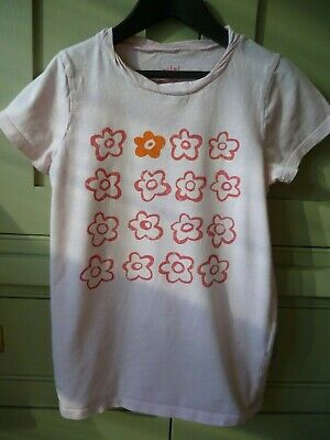 Mini Boden age 7-8 girls pink short sleeve t-shirt excellent condition