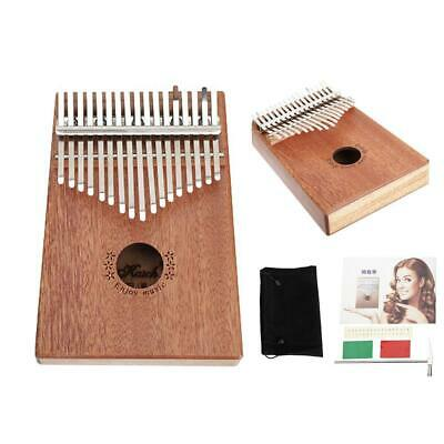 17 Key Kalimba Single Board Mahogany Thumb Piano Mini Mbira Keyboard Instrument
