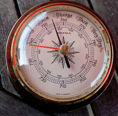 BAROMETER, MARITIMES BAROMETER ASTRA MADE IN GERMANY,  DURCHMESSER 14 cm