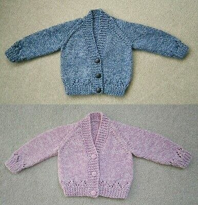 New Hand Knitted Girls Cardigan 0-3 Months Jumpers & Cardigans Baby