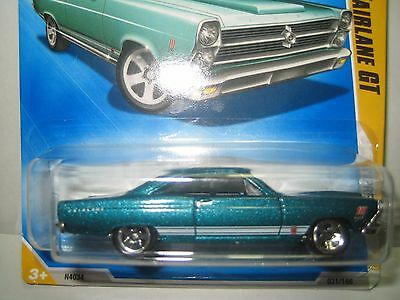 Ford Fairlaine Gt 351 Super Rare 2008 Sharp Hotwheels Turquoise Last One !