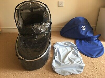Babystyle Oyster 2 Carrycot - Black, Blue, Raincover