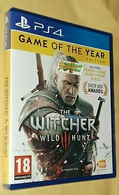 The Witcher (3) III Wild Hunt Game of the Year Edition GOTY PS4 NEW & Sealed