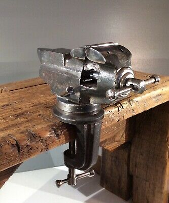 Vintage Hobbyists Engineers Swivel Bench Vice 2 Inch Jaws With Anvil