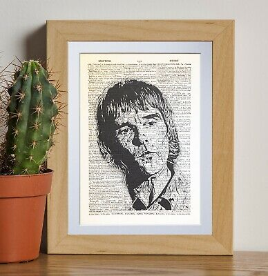 Ian Brown retro art dictionary page art print vintage gift antique bookE33