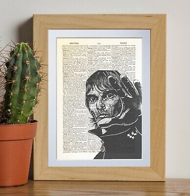 Ian Brown retro art dictionary page art print vintage gift antique bookE34