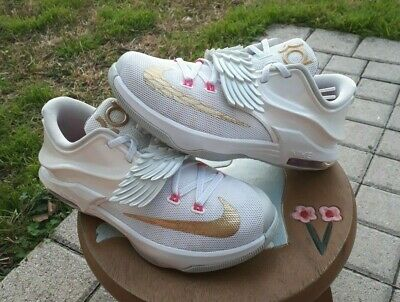 f9fdfb9982d8 KD V 5 Aunt Pearl 11.5 Wings Breast Cancer White Pink Limited Rare ...