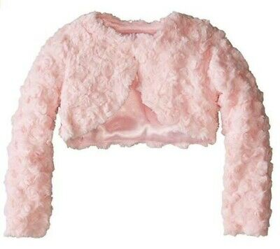 RINGAROSIES GIRLS FAUX FUR PINK BOLERO COAT Cardigan  AGE 5/6 NEW