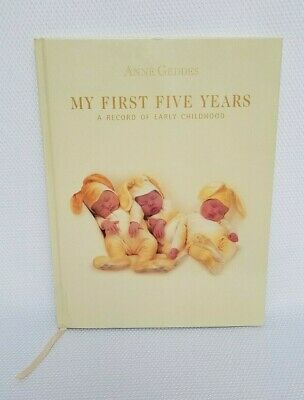 Vintage Anne Geddes MY FIRST FIVE YEARS Bunny Baby Journal Record Book NEW RARE