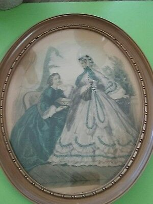 victorian ladies oval picture