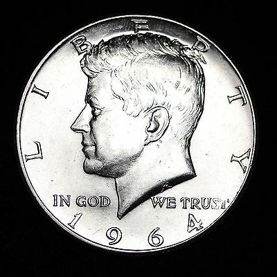 1964-D Kennedy Silver Half Dollar *53 YEARS OLD* GEM BU FREE SHIPPING!