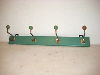 original Art Deco Wand Garderobe Holz / Metall Coat Rack Wardrobe Vintage