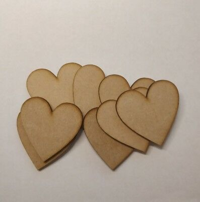 7cm laser cut 3mm MDF Hearts blank craft shape sign with hole Wooden 70mm