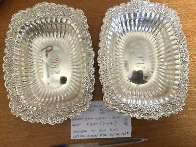 Whiting Sterling Dishes Pair