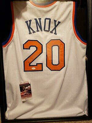 e7ed436e8 Kevin Knox  20 Signed NY Knicks (Kentucky) Home Jersey Sz XL JSA WITNESSED