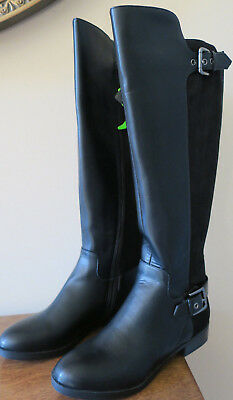 d0eb8090109 Liz Claiborne Dallas Women s Black Wide Calf Riding Boots Size 5M NEW!