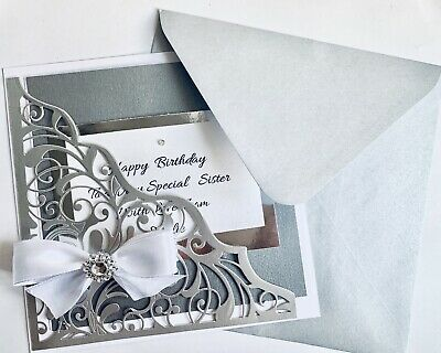 Handmade Personalised Card Wedding Day Birthday Money Voucher Wallet Card