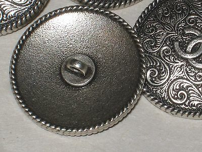 CHANEL   2 SILVER    METAL BUTTONS CC LOGO  12  MM small NEW LOT 2