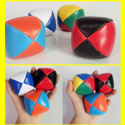 3pcs JUGGLING BALLS Circus Clown Coloured Learn to Juggle Toy Game Soft Set