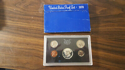 1970 US Coin Proof Set 40% Silver Kennedy Half Birth Year Rare Free Shipping 001