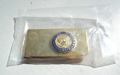 Nos United States Senate Gold Tone Money Clip Circa 1980'S