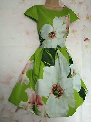 d1211d3327b2 TED BAKER  Lynetta  Chatsworth Floral Print Occasion Dress 12 (Ted Size 3)