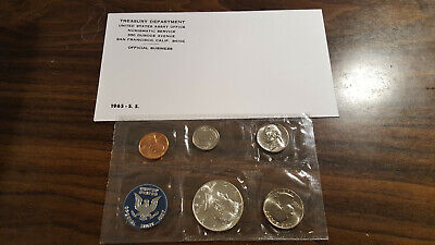 1965 US Coin Special Mint Set 40% Silver Kennedy Half Birth Year Free Shipping 1