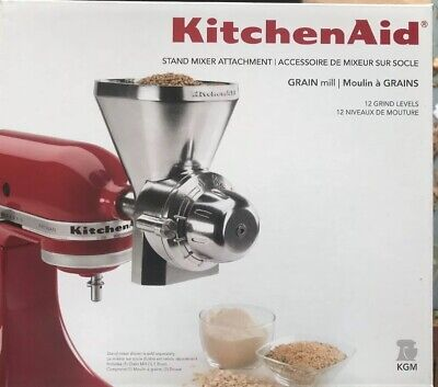 KitchenAid All Metal Grain Mill Attachment for Stand Mixer-Kgm