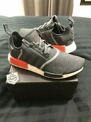 6b8e7018e460 Adidas NMD R1 Wool Charcoal Grey (S31510) sz 10 solar red boost ultra 3m