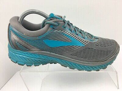93c394843ba11 Brooks Ghost 10 Gray Teal Athletic Running Shoes Sneakers Women s US Size 10  B