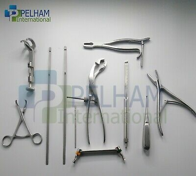 Assorted Orthopedics Instrument Set  Surgical Instruments 10 Pieces