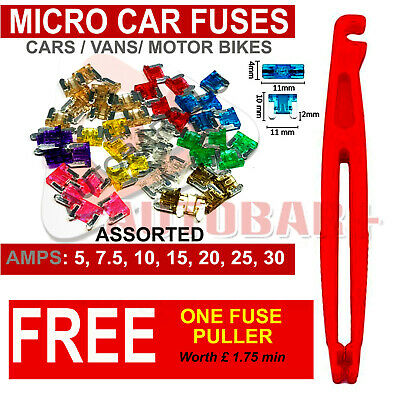 Car Micro Fuses - Assorted - Pack Of 35