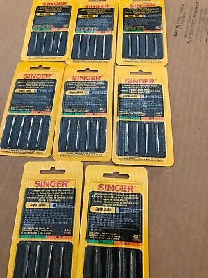 8 packs SINGER Style 2045 Machine Needles  Assorted Sizes NEW