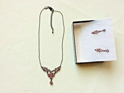 d56eea4c1a4b2 PARK LANE PINK Genuine Swarovski Crystal Necklace 15