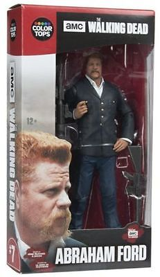 """Fear the Walking Dead ABRAHAM FORD 7"""" Figure McFarlane Color Tops Red Wave #7"""