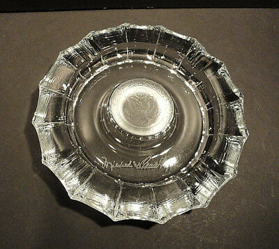 House Of Representatives Embossed Ashtray Florida Mildred & Claude Pepper