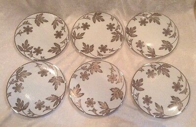 Lot of 6 NWT ROYAL GALLERY Platinum Buffet  Accent Salad Luncheon Plates $150