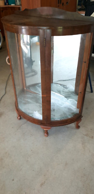 Antique glass cabinet used timber