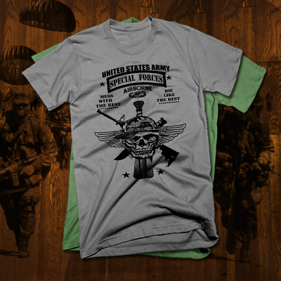 977e3c91 Army Special Forces Ranger T-Shirt Iraq Afghan Military Sniper Combat  Airborne