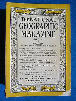 National Geographic Magazine July 1934 Vintage Ads Car Truck Advertising