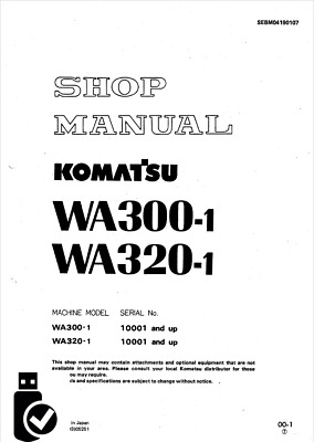 KOMATSU PDF SERVICE Manual WA900-1 Wheel Loader 10001 and up