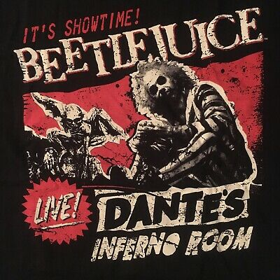 fun BEETLEJUICE  t-shirt by FUNKO--IT'S SHOWTIME! dante's inferno room--NEW--(L)