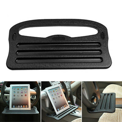 Car Steering Wheel Tray Cup Holder Laptop GPS Desk Chair Dining Table Black