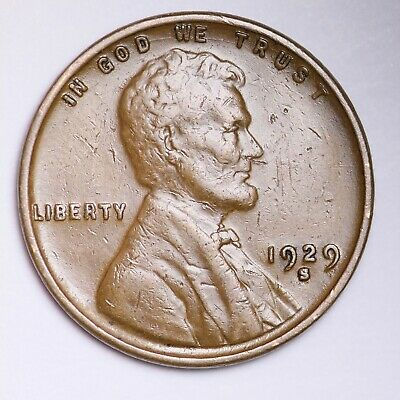 AU 1929-S Lincoln Wheat Cent Penny FREE SHIPPING